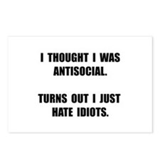 Antisocial Idiots Postcards (Package of 8)