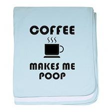 Coffee Poop baby blanket