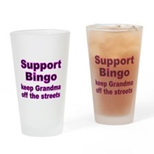 Support Bingo Drinking Glass