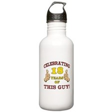 Funny 18th Birthday For Boys Water Bottle