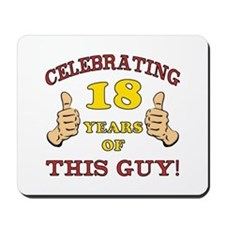 Funny 18th Birthday For Boys Mousepad