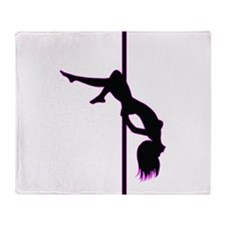 Stripper - Strip Club - Pole Dancer Throw Blanket
