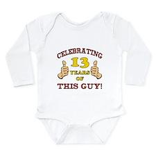 Funny 13th Birthday For Boys Onesie Romper Suit