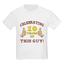 Funny 10th Birthday For Boys T-Shirt