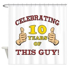 Funny 10th Birthday For Boys Shower Curtain