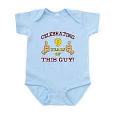 Funny 9th Birthday For Boys Infant Bodysuit