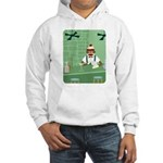 Sock Monkey Martini Bartender Hooded Sweatshirt