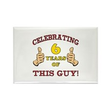 Funny 6th Birthday For Boys Rectangle Magnet