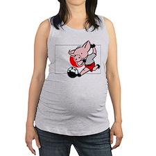 japan-soccer-pig.png Maternity Tank Top