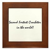 @nd fastest crocheter Framed Tile