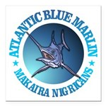 Blue Marlin Square Car Magnet 3