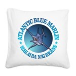 Blue Marlin Square Canvas Pillow