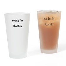 made in florida Drinking Glass