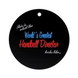 World's Greatest Director Black Ornament (Round)