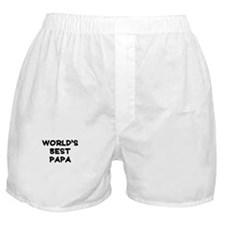 Worlds Best Papa Boxer Shorts