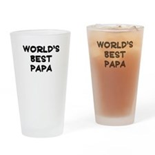 Worlds Best Papa Drinking Glass
