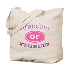 Grandma Of Three Tote Bag