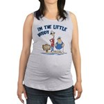 FIN-little-buddy.psd Maternity Tank Top