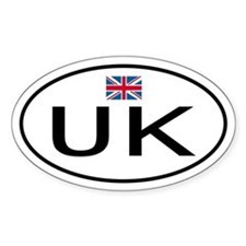 UK England Oval Decal
