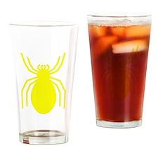 Yellow Spider Drinking Glass
