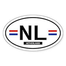 Netherlands Oval Stickers