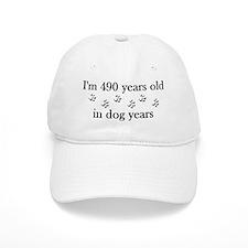 70 birthday dog years 4-2 Baseball Cap