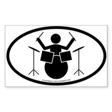 """Drummer"" - Decal(Oval) Decal"