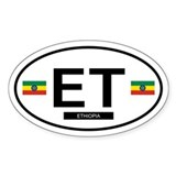 Ethiopia Oval Decal