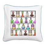 The Mad Scientist Square Canvas Pillow
