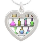 The Mad Scientist Silver Heart Necklace