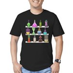 The Mad Scientist Men's Fitted T-Shirt (dark)