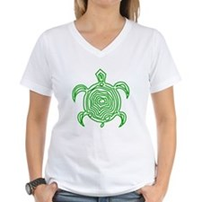 Green Turtle Art T-Shirt