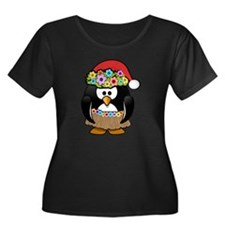 Hawaiian Christmas Penguin Plus Size T-Shirt