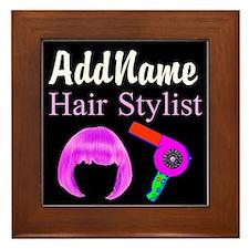 HAIR STYLIST DIVA Framed Tile