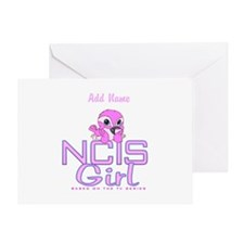 Personalized NCIS Girl Greeting Card