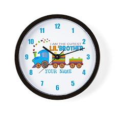 Cutest Lil Brother Train Wall Clock