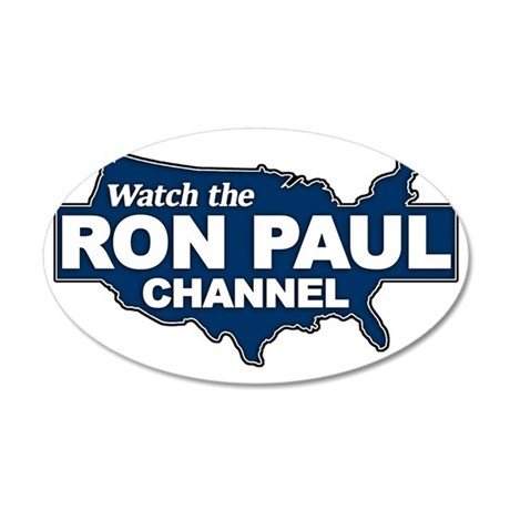 Watch the Ron Paul Channel 35x21 Oval Wall Decal