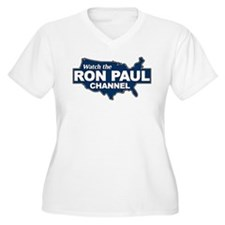 Watch The Ron Paul Channel! Plus Size T-Shirt