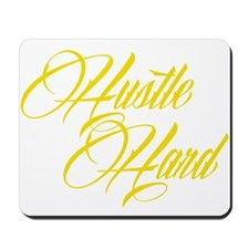 hustle hard yellow Mousepad