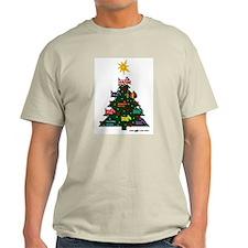 SCOTTISH TERRIER CHRISTMAS TREE Ash Grey T-Shirt