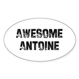 Awesome Antoine Oval Decal