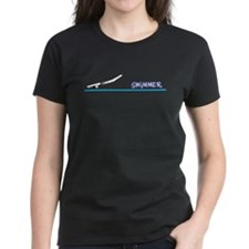 Swimmer (girl) black suit Tee