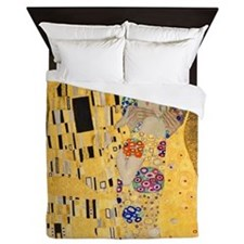 The Kiss by Klimt Queen Duvet