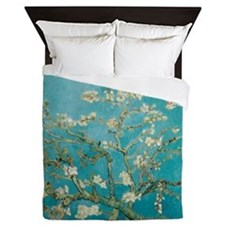 Van Gogh Almond tree flowers - Blue Queen Duvet