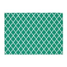 Emerald Green Quatrefoil 5'x7'Area Rug