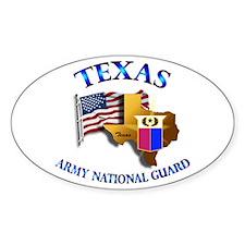 Army National Guard - TEXAS w Flag Decal