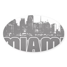 Miami Skyline Decal