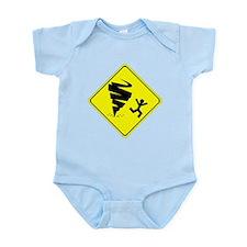 Tornado Caution Sign Body Suit