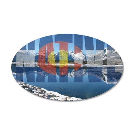 Colorado Native 35x21 Oval Wall Decal