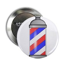 "Barber Shop Pole 2.25"" Button (10 pack)"